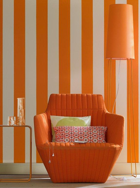 sch ner wohnen trendfarbe mango das fruchtige orange der trendfarbe mango bringt farbe ins. Black Bedroom Furniture Sets. Home Design Ideas