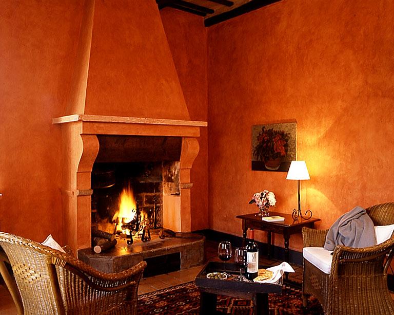 Wandfarben Wohnzimmer Terracotta