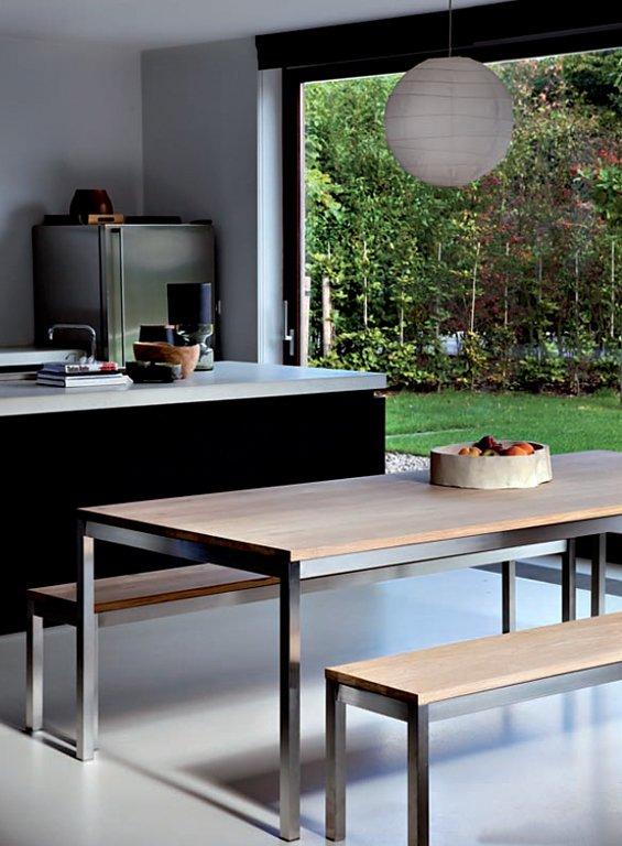 graziler esstisch aus eiche tipp des tages sch ner wohnen. Black Bedroom Furniture Sets. Home Design Ideas
