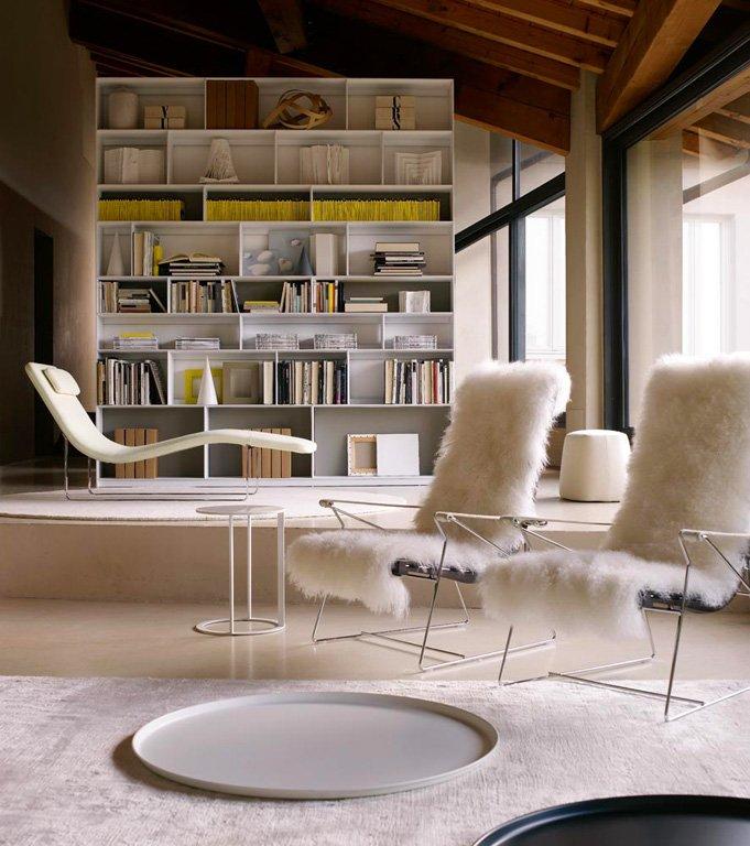 fotostrecke sessel j j mit fell von b b italia bild 4 sch ner wohnen. Black Bedroom Furniture Sets. Home Design Ideas