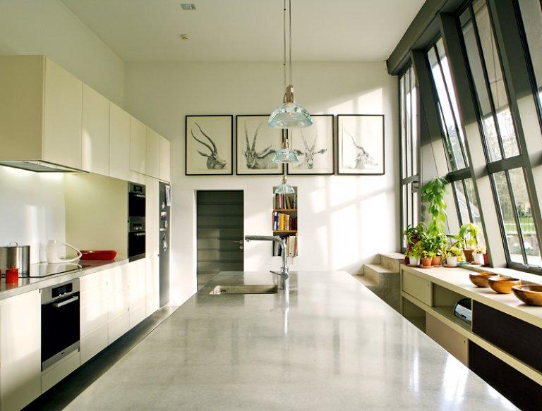 k che mit raum im raum prinzip k chen in. Black Bedroom Furniture Sets. Home Design Ideas