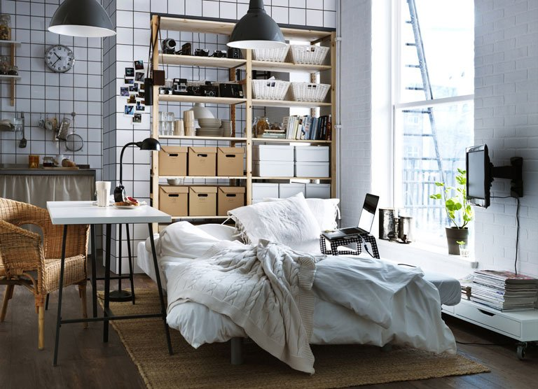 ikea katalog 2012 ideen f r kleine wohnungen sch ner wohnen. Black Bedroom Furniture Sets. Home Design Ideas