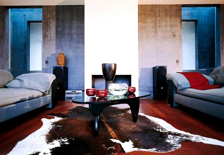 Inspiration Wohnzimmer Mit Beton Und Farbigem Putz Bild 22