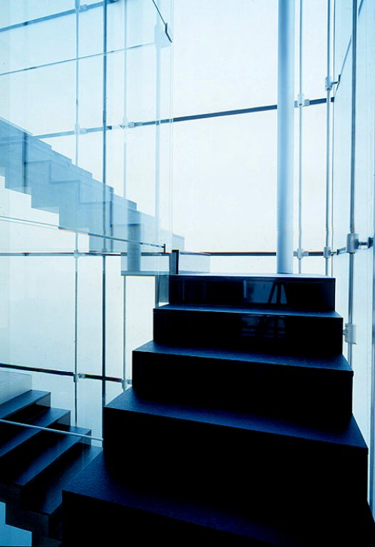 flachdach haus aus stahl und glas sch ner wohnen. Black Bedroom Furniture Sets. Home Design Ideas
