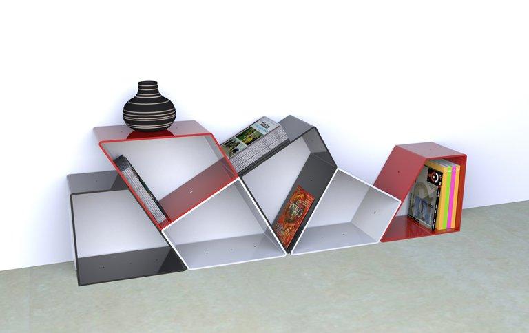 modulares regalsystem aus italien sch ner wohnen. Black Bedroom Furniture Sets. Home Design Ideas