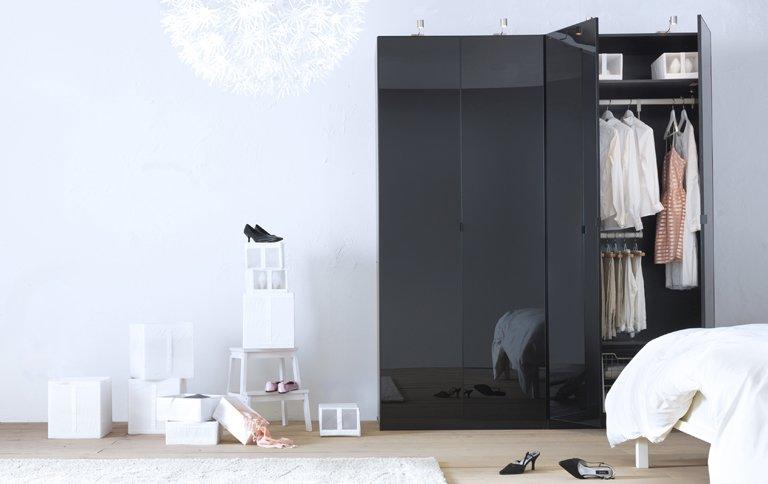 t rfront von ikeas pax jetzt auch in schwarz sch ner wohnen. Black Bedroom Furniture Sets. Home Design Ideas