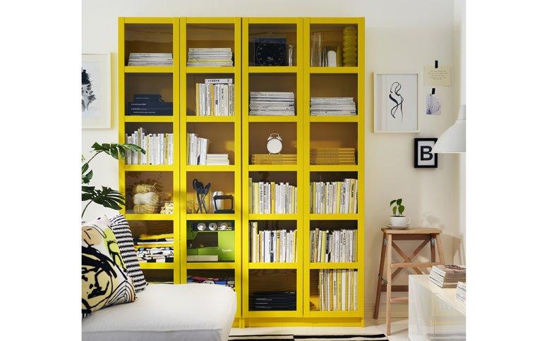 billy gibt es jetzt auch in gelb tipp des tages sch ner wohnen. Black Bedroom Furniture Sets. Home Design Ideas