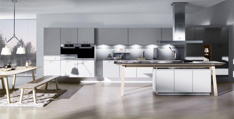Küche küche glasfront grau : Fotostrecke: NX 902 Steingrau Glas matt - Bild 8 - [SCHÖNER WOHNEN]