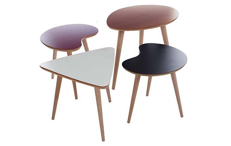 beistelltische im 50er jahre design tipp des tages. Black Bedroom Furniture Sets. Home Design Ideas