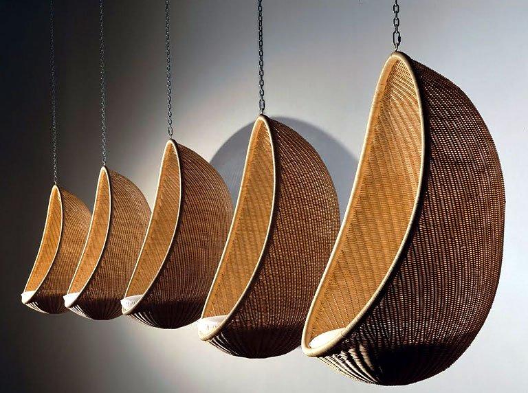 h ngesessel aus rattan h ngesessel aus baumwolle mit kissen wei pureday http www. Black Bedroom Furniture Sets. Home Design Ideas
