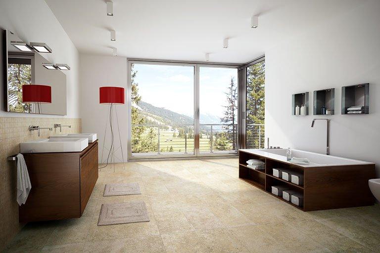 Wohnideen Wohnliches Bad SCHNER WOHNEN Fliesen Marmor Line