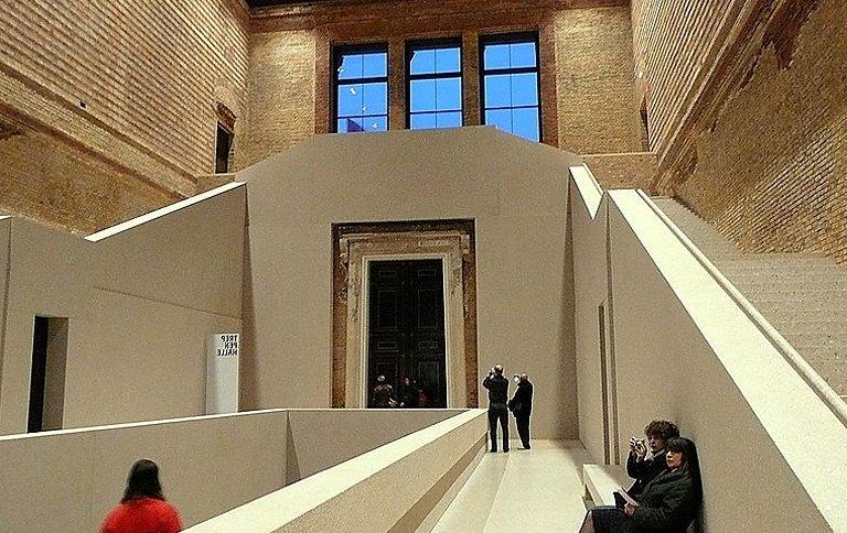 ausstellung zum mies van der rohe award in d sseldorf. Black Bedroom Furniture Sets. Home Design Ideas