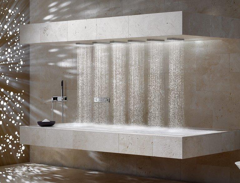 Waagerechte Dusche \