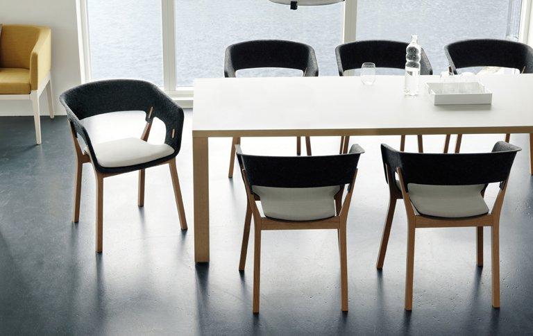 sessel 3000 njord aus holz und filz sch ner wohnen. Black Bedroom Furniture Sets. Home Design Ideas