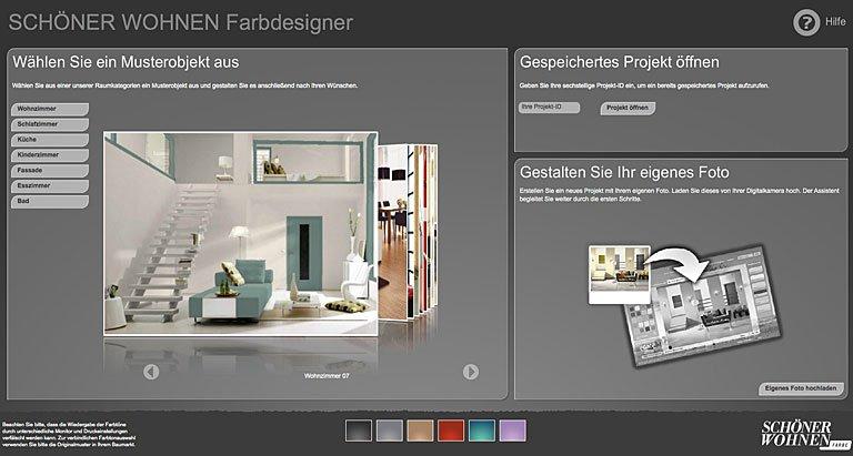 interaktiver farbdesigner r ume und fassaden einfach. Black Bedroom Furniture Sets. Home Design Ideas