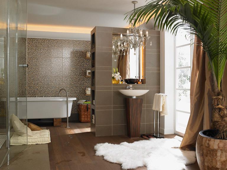 fliesen mit naturstein dekor fliesen akzente im badezimmer 4 sch ner wohnen. Black Bedroom Furniture Sets. Home Design Ideas