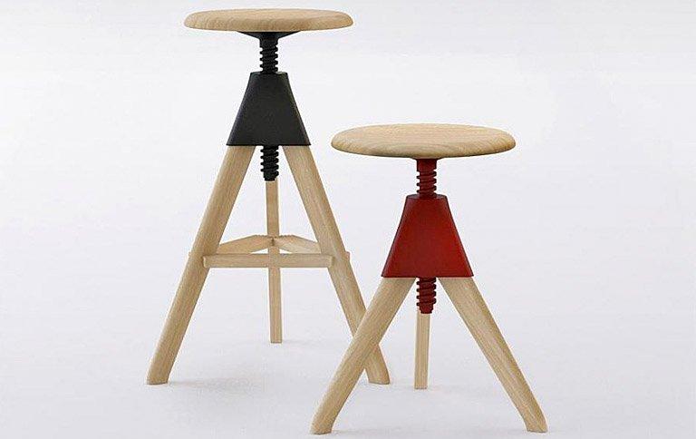 hocker tom jerry aus massivem buchenholz sch ner. Black Bedroom Furniture Sets. Home Design Ideas