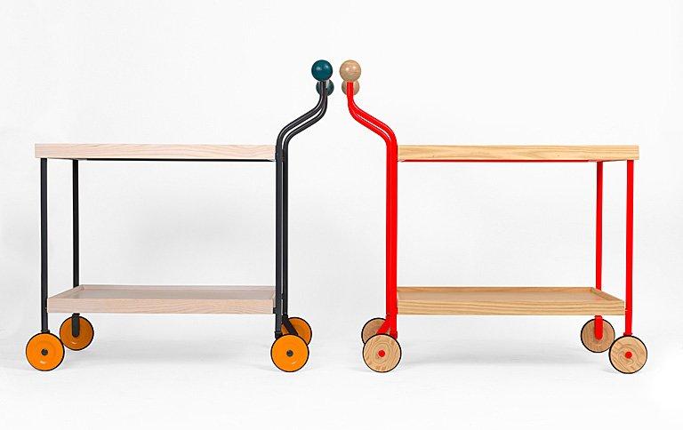servierwagen darjeeling aus eschenholz und stahl sch ner wohnen. Black Bedroom Furniture Sets. Home Design Ideas