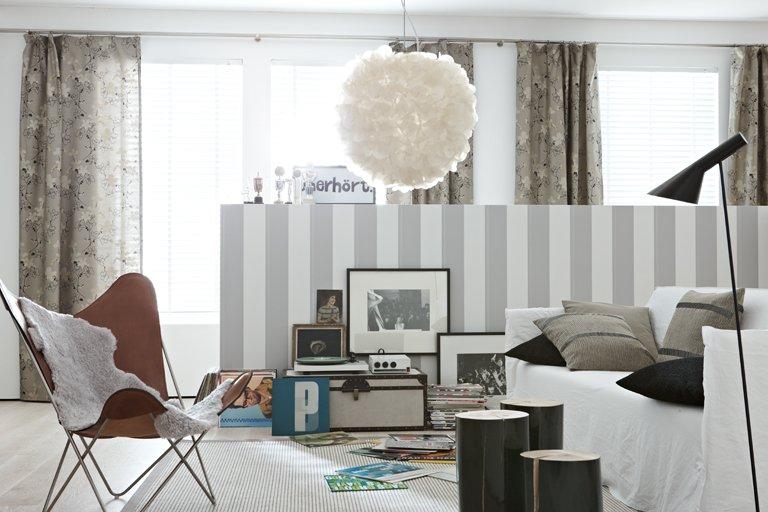 gardine und gardinen fensterdekoration sch ner wohnen pictures. Black Bedroom Furniture Sets. Home Design Ideas
