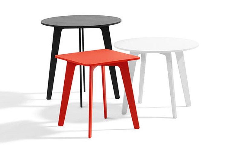 beistelltisch mika aus lackiertem aluminium sch ner wohnen. Black Bedroom Furniture Sets. Home Design Ideas