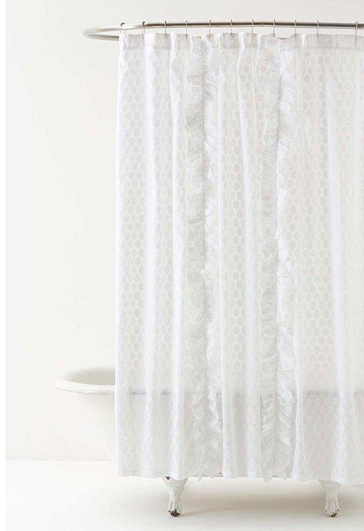 duschvorhang dot flurry mit r schen bei anthropologie. Black Bedroom Furniture Sets. Home Design Ideas