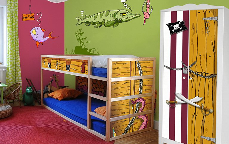 stikkipix aufkleber f r kinderzimmerm bel von ikea sch ner wohnen. Black Bedroom Furniture Sets. Home Design Ideas