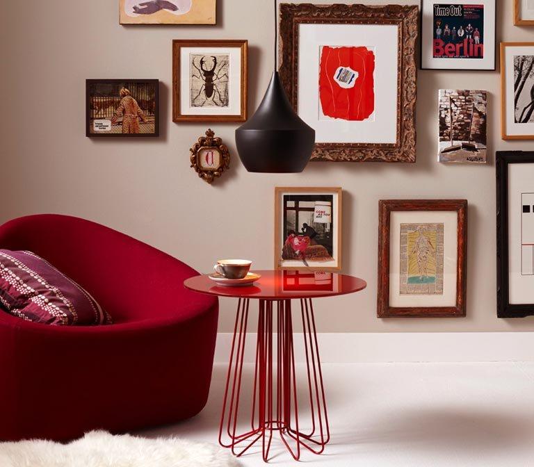 wandfarben braun beige grau und violett sch ner wohnen. Black Bedroom Furniture Sets. Home Design Ideas