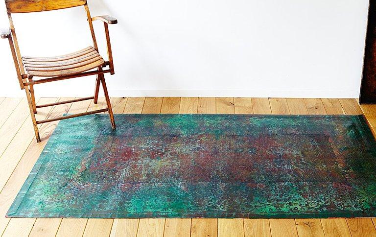 k lner manufaktur floorcloth e s mit handbemalten teppichen sch ner wohnen. Black Bedroom Furniture Sets. Home Design Ideas