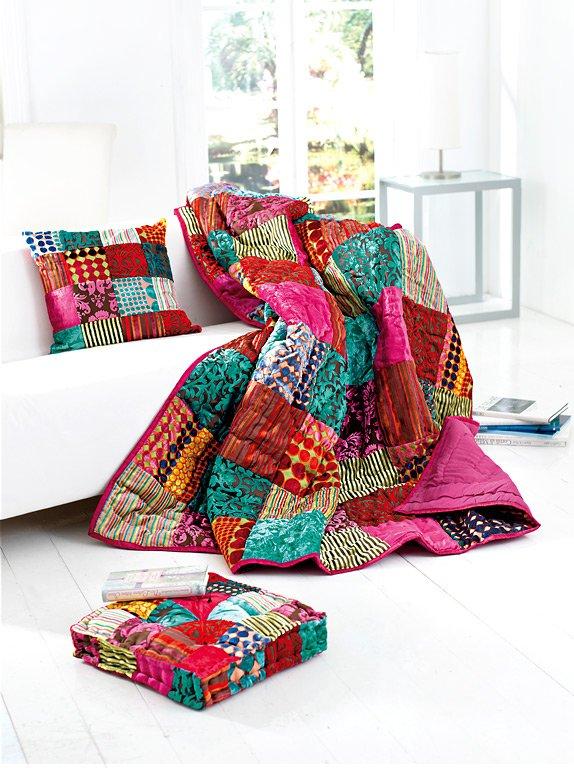 patchwork traditionelles muster neu aufgelegt sch ner wohnen. Black Bedroom Furniture Sets. Home Design Ideas
