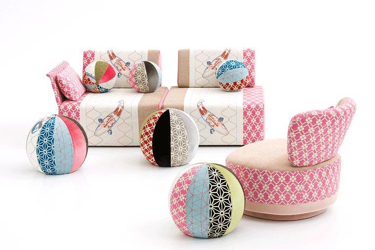 fotostrecke m bel und accessoires mit patchwork muster. Black Bedroom Furniture Sets. Home Design Ideas