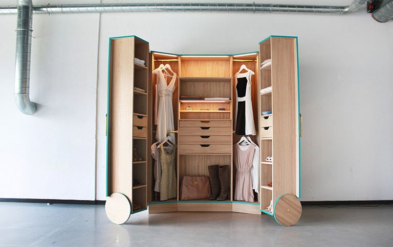 walk in closet f r kleine r ume sch ner wohnen. Black Bedroom Furniture Sets. Home Design Ideas