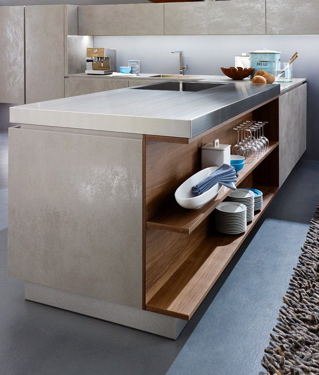 Trend: Materialien: Glas & Keramik für die Küche - [SCHÖNER WOHNEN] | {Alno küchen mit kochinsel 94}