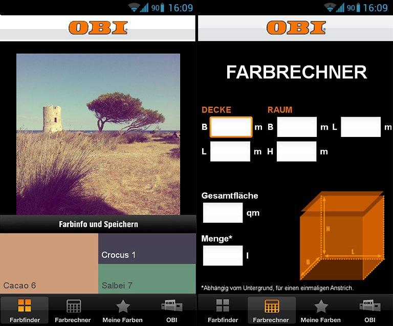 iphone android farbton nach wunsch obi farbfinder bild 2 sch ner wohnen. Black Bedroom Furniture Sets. Home Design Ideas