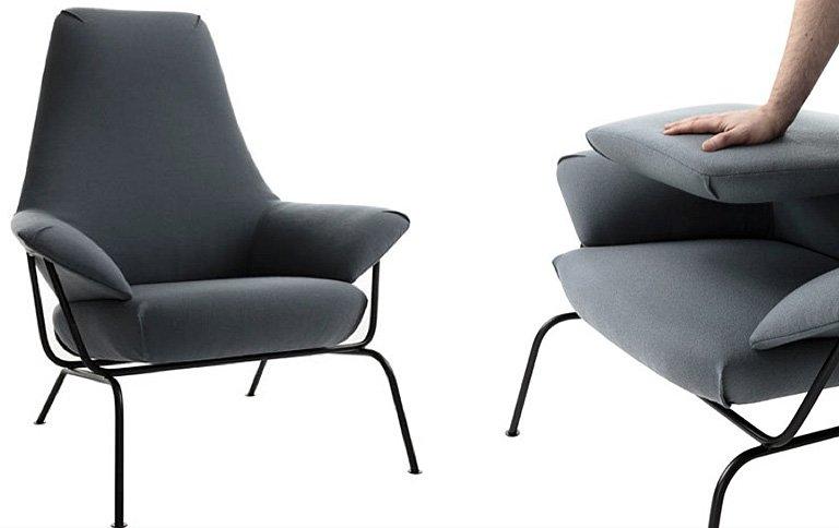 sessel hai mit faltbarer r ckenlehne sch ner wohnen. Black Bedroom Furniture Sets. Home Design Ideas
