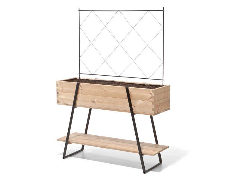 g rtnern in der stadt hochbeet mit rankgitter von manufactum bild 9 sch ner wohnen. Black Bedroom Furniture Sets. Home Design Ideas