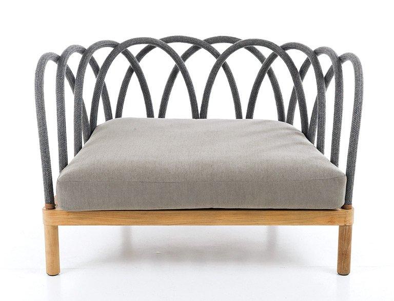 sofa hideaway von cane line gartenm bel mit flechtwerk und polstern 3 sch ner wohnen. Black Bedroom Furniture Sets. Home Design Ideas