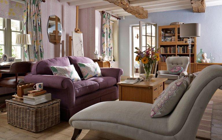 laura ashley mit jubil umskollektion bloomsbury sch ner wohnen. Black Bedroom Furniture Sets. Home Design Ideas