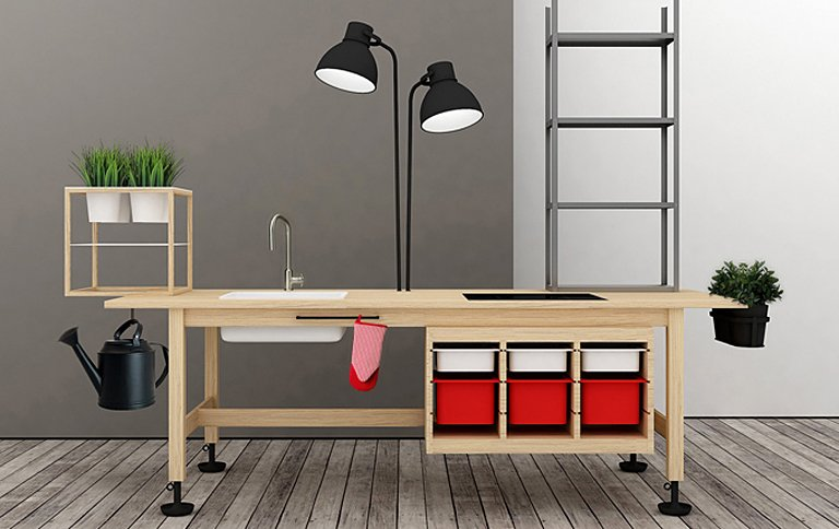 bau dir deine k che aus ikea produkten sch ner wohnen. Black Bedroom Furniture Sets. Home Design Ideas