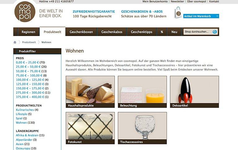 online shop cosmopol f r cosmopoliten sch ner wohnen. Black Bedroom Furniture Sets. Home Design Ideas