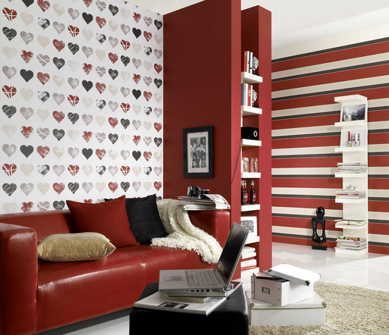 fotostrecke 50 aktuelle top tapeten sch ner wohnen. Black Bedroom Furniture Sets. Home Design Ideas