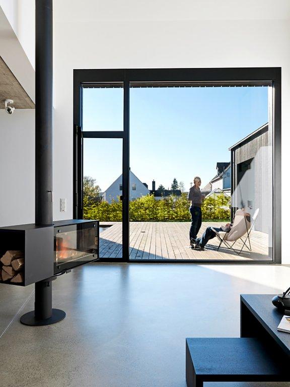 architektenh user neubau aus drei bauk rpern sch ner. Black Bedroom Furniture Sets. Home Design Ideas