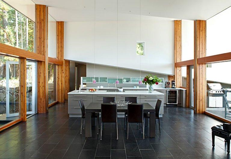 k che mit raum im raum prinzip k chen in architektenh usern 1 sch ner wohnen. Black Bedroom Furniture Sets. Home Design Ideas