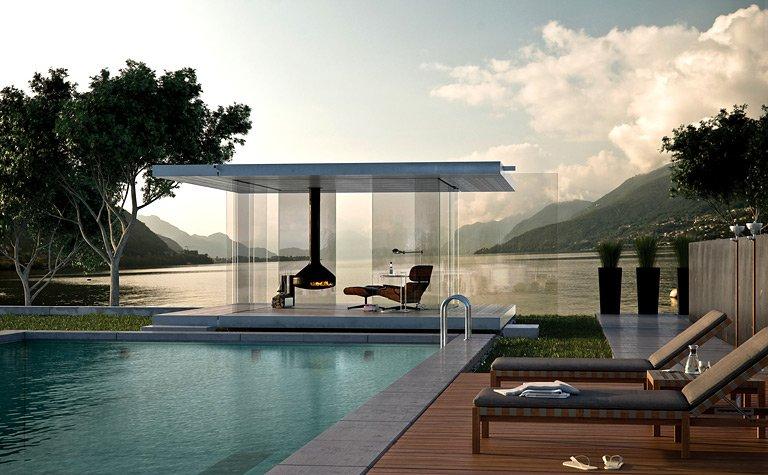 Rundum transparent pavillon 360 von glas marte bild 2 for Gartenlaube modern einrichten