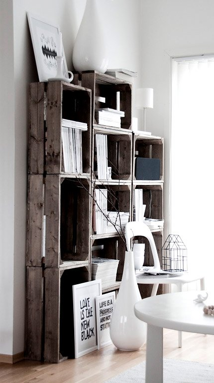inspiration m bel aus alten holzpaletten und obstkisten. Black Bedroom Furniture Sets. Home Design Ideas