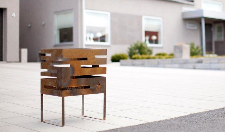 fotostrecke geradlinig feuerkorb urban 70 von r shults bild 9 sch ner wohnen. Black Bedroom Furniture Sets. Home Design Ideas