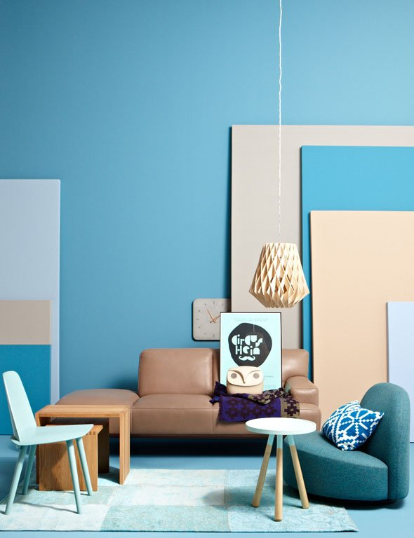 wohnen mit farben einrichten mit blau sch ner wohnen. Black Bedroom Furniture Sets. Home Design Ideas
