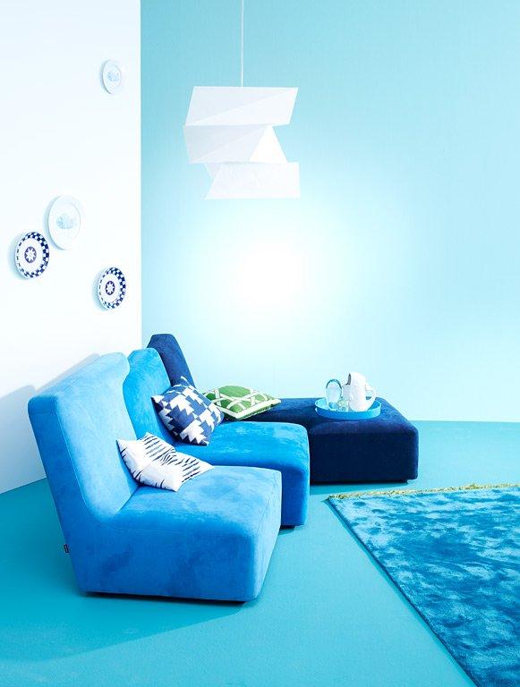 wohnen mit farben zwei farben an einer wand sch ner wohnen. Black Bedroom Furniture Sets. Home Design Ideas