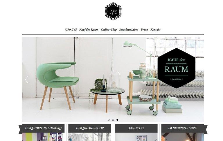 lys vintage mit neuer website und gr erem online shop sch ner wohnen. Black Bedroom Furniture Sets. Home Design Ideas