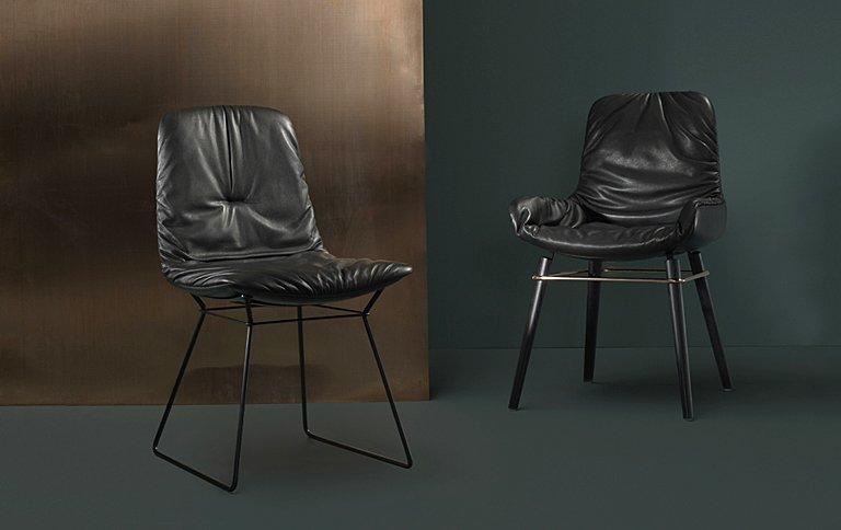 stuhl leya mit feinem kupferakzent bei freifrau sch ner wohnen. Black Bedroom Furniture Sets. Home Design Ideas