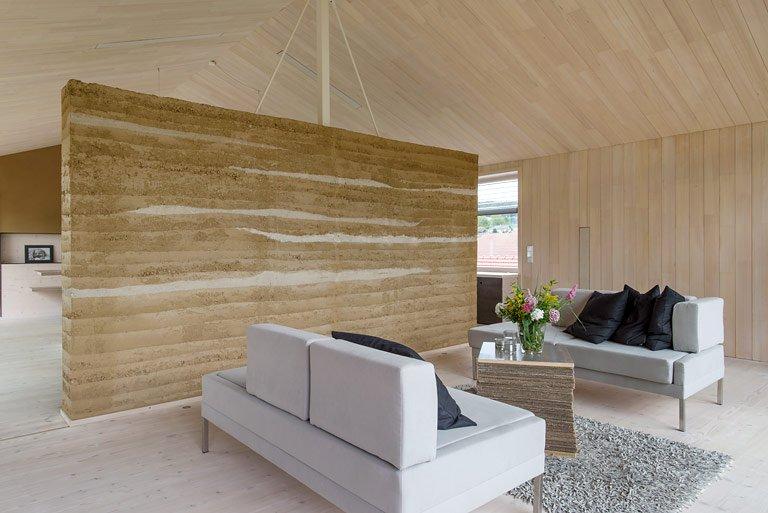 inspiration: lehmwand für besseres raumklima - bild 4 - [schÖner, Wohnzimmer
